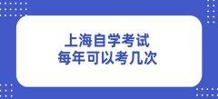 上海自学考试每年可以考几次
